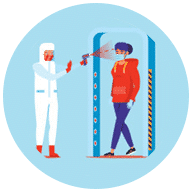 One way access prevent COVID-19