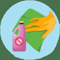 Use clean cloth