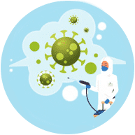 Disinfection spray and ozone