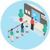 Provide waiting area prevent covid-19
